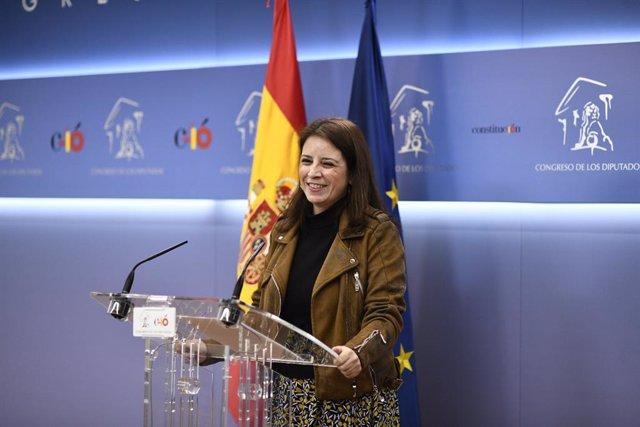 Adriana Lastra a la Junta de Portaveus del Congrés dels Diputats