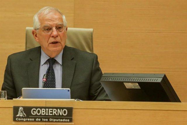 Compareixença de Josep Borrell al Congrés per explicar la posició espanyola