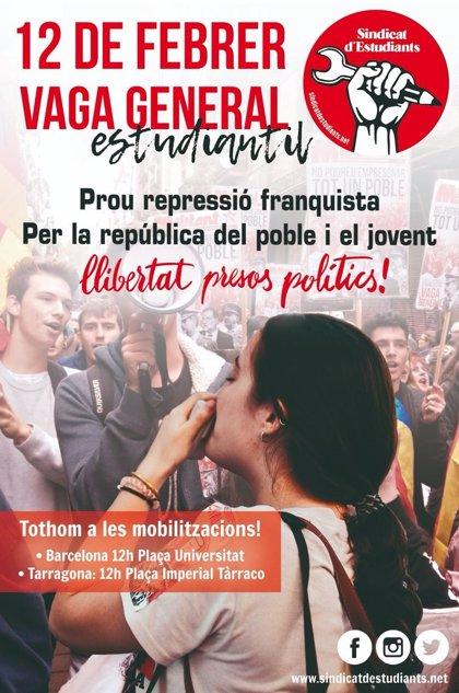 El Sindicat d'Estudiants convoca una vaga el 12 de febrer després de desconvocar-se la de dijous