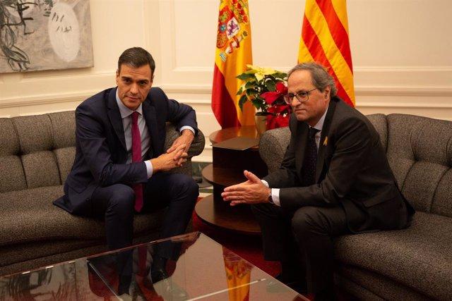 Trobada entre el Govern i la Generalitat catalana (Arxiu)