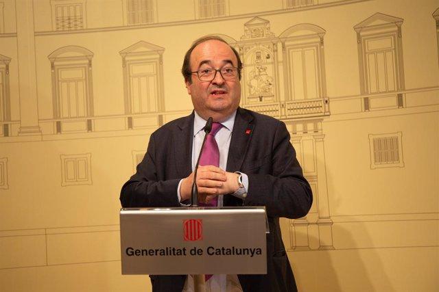Reunión del 'Espai de Diàleg'en el Palacio de la Generalitat de Catalunya
