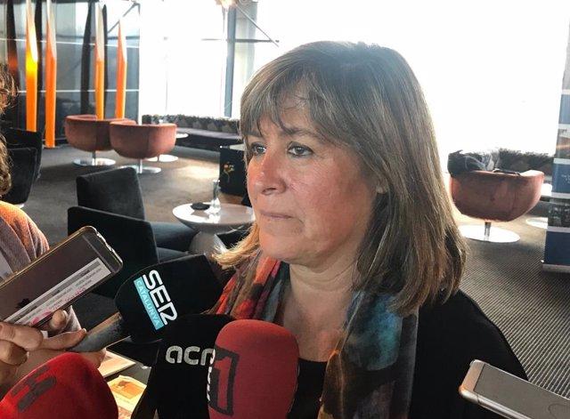La alcaldesa de L'Hospitalet de Llobregat (Barcelona), Núria Marín, en una foto