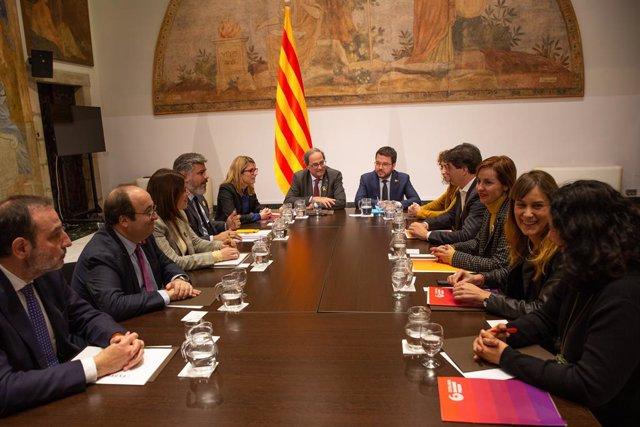 Reunió de l''Espai de Diàleg'en el Palau de la Generalitat de Catalunya