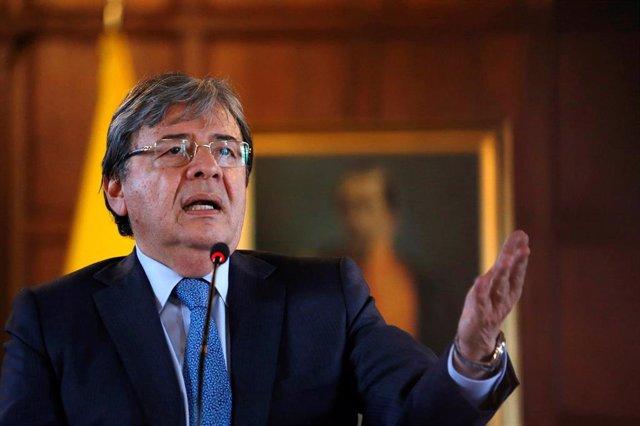 El ministro de Asuntos Exteriores colombiano, Carlos Holmes Trujillo