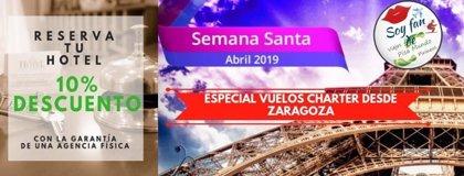 Pisamundo Pirineos oferta para esta Semana Santa un especial viajes con vuelos chárter desde Zaragoza
