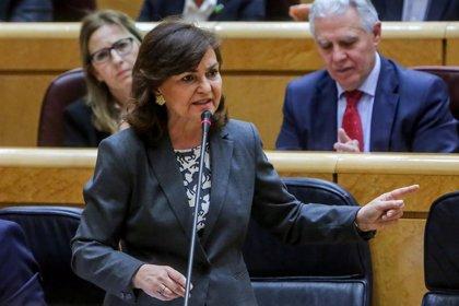 La vicepresidenta del Govern espanyol, Carmen Calvo, compareixerà a les 11.30 hores a La Moncloa