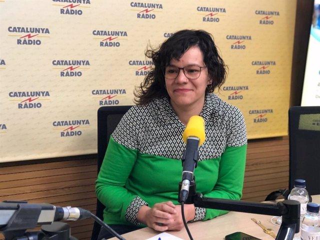La diputada de la CUP al Parlament Natlia Snchez