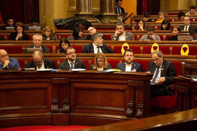 Sessió ordinria al Parlament de Catalunya