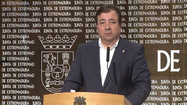 El president de la Junta d'Extremadura, Guillermo Fernández Vara