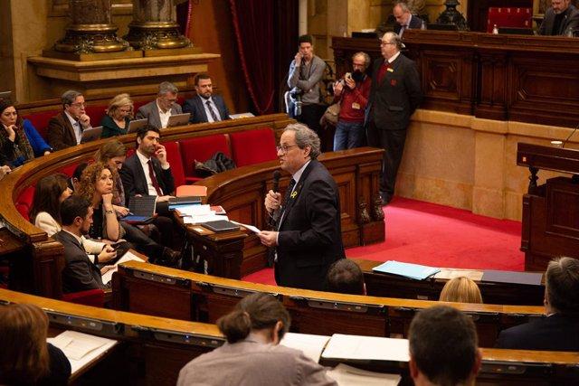 Sessió ordinària al Parlament de Catalunya
