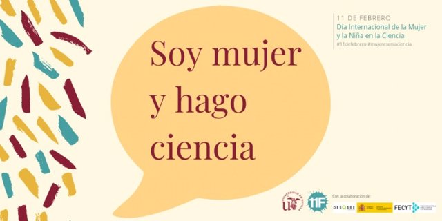 Cartel de la campaña 'Soy mujer y hago ciencia'