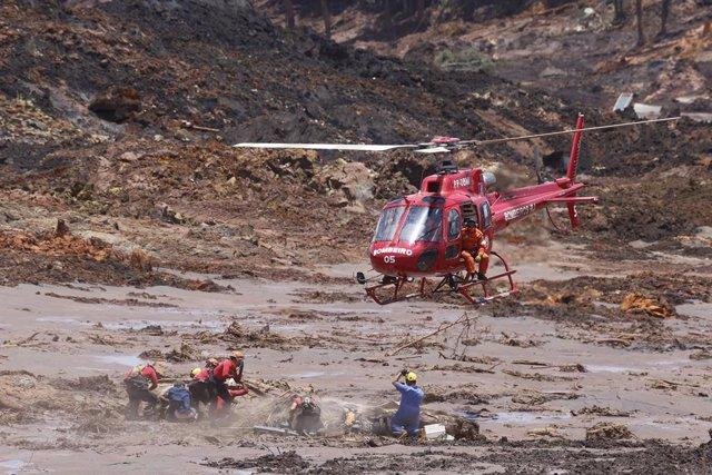 Daños provocados por la rotura de una presa en Brumadinho
