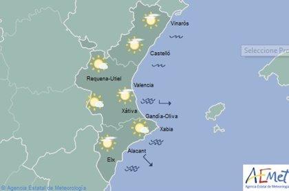 El cielo sigue despejado este jueves en la Comunitat Valenciana con máximas de 24º