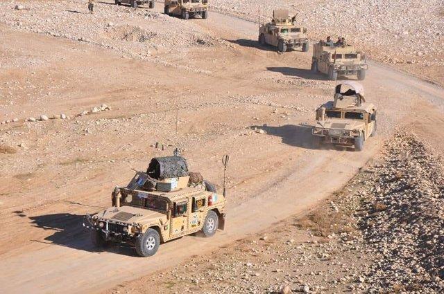 Blindados del Ejército afgano en una operación