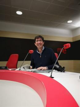 El vicepresidente de la Junta,  Juan Marín (Cs), entrevistado en RNE