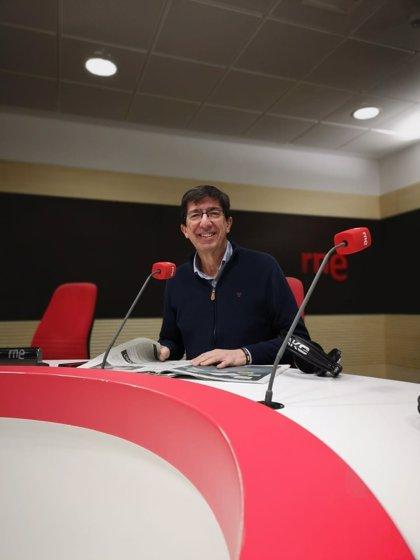 Marín respalda la concentración de Cs, PP y Vox y urge a Sánchez a convocar elecciones sin moción de censura