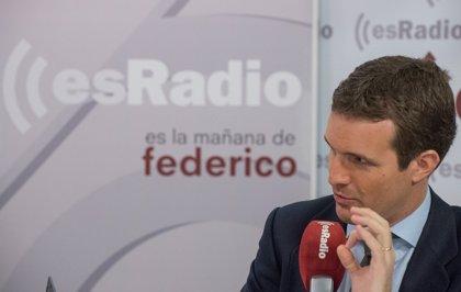 """Casado ve en Cataluña la """"agenda Batasuna"""" y pide que el 26 de mayo sea """"una moción de censura"""" contra Sánchez"""