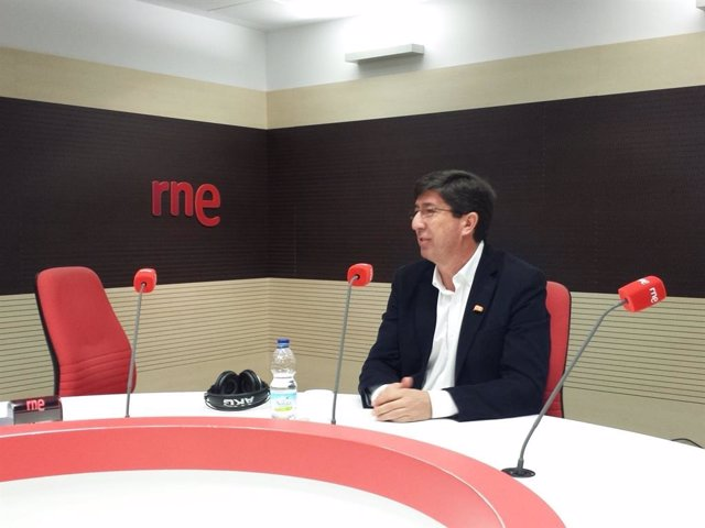 Juan Marín, en una imagen de archivo durante una entrevista en RNE