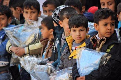 UNICEF entrega ropa de abrigo a más de 160.000 niños desplazados y refugiados en Irak
