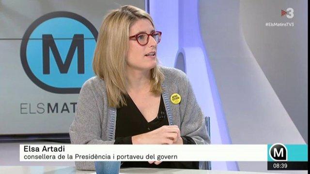 Elsa Artadi a TV3