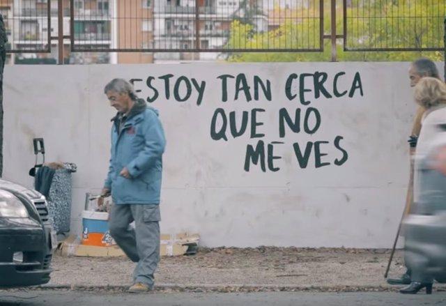 Campaña 'Nadie sin hogar' de Cáritas Española
