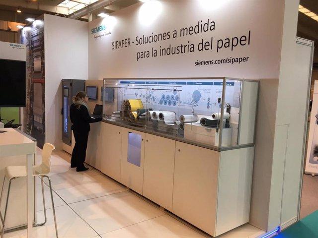 Stand de Siemens en SPAPER 2019