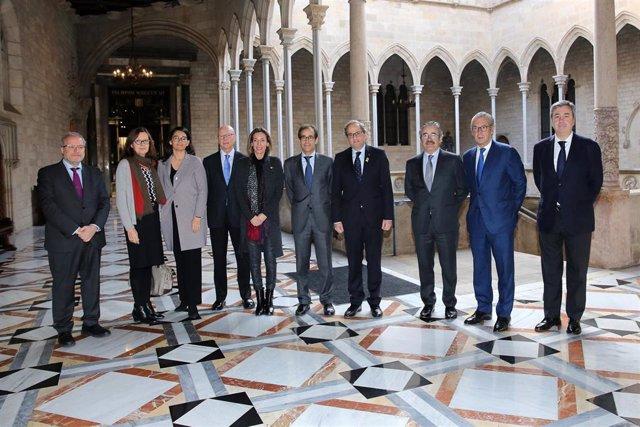 Torra y Chacón, con el nuevo consejo de administración de Fira de Barcelona