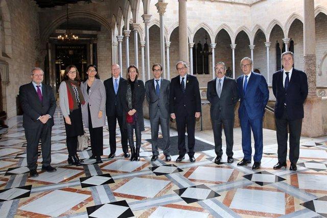 Torra i Chacón, amb el nou consell d'administració de Fira de Barcelona