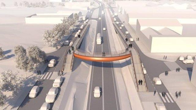 La C-35 en Sant Celoni (Barcelona) tendrá dos pasarelas para peatones