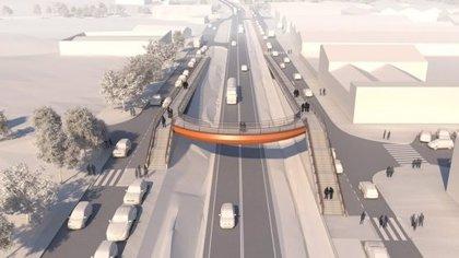 La C-35 a Sant Celoni (Barcelona) tindrà dues passarel·les per a vianants