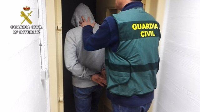 La Guardia Civil desarticula un grupo que cometió robos en cuatro provincias