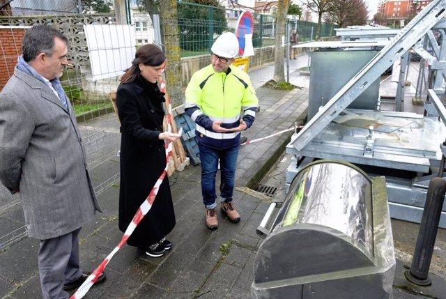 Igual asiste al inicio de la segunda fase de renovación de contenedores soterrad