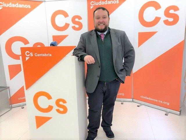 El diputado de Cs en Cantabria, Rubén Gómez