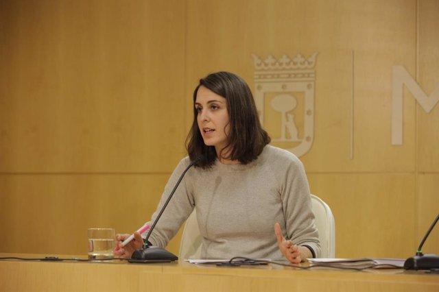 La portavoz del Ayuntamiento de Madrid, Rita Maestre, ofrece rueda de prensa tra