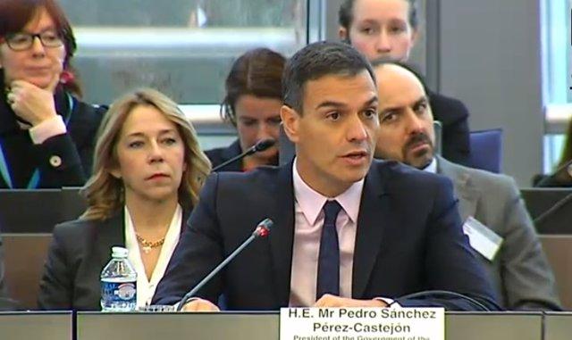 Intervención de Sánchez ante el Consejo de Europa en Estrasburgo