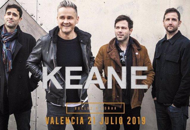 Keane nueva confirmación para 4ever Valencia Fest