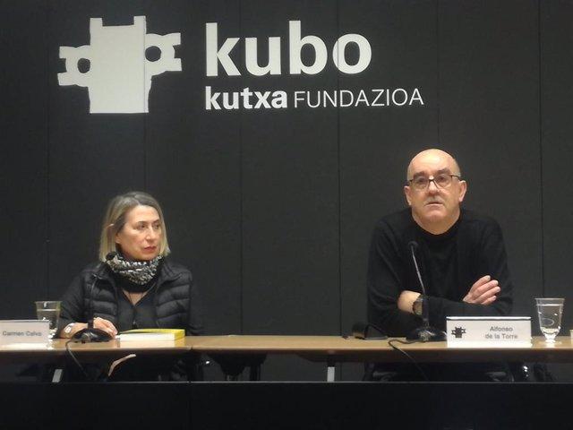 Inauguración de la muestra de Carmen Calvo en la sala Kubo Kutxa.