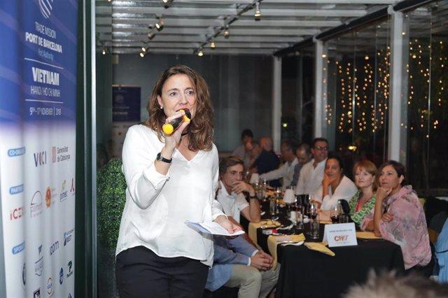 La presidenta del Puerto de Barcelona, Mercè Conesa