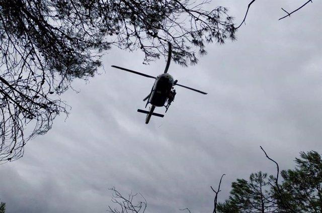 Imatge d'arxiu d'un helicòpter de la Guàrdia Civil