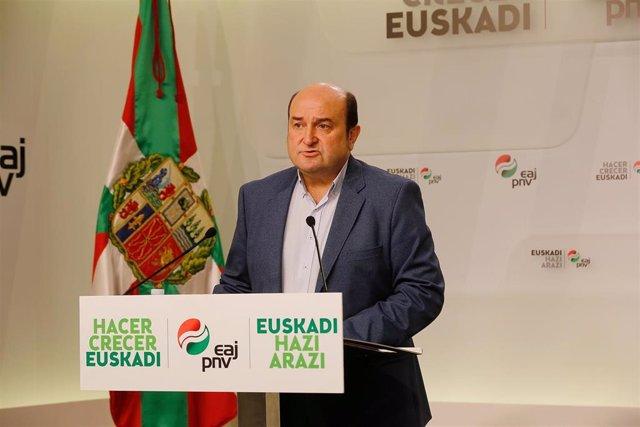 Declaraciones de Andoni Ortuzar sobre la situación en Cataluña