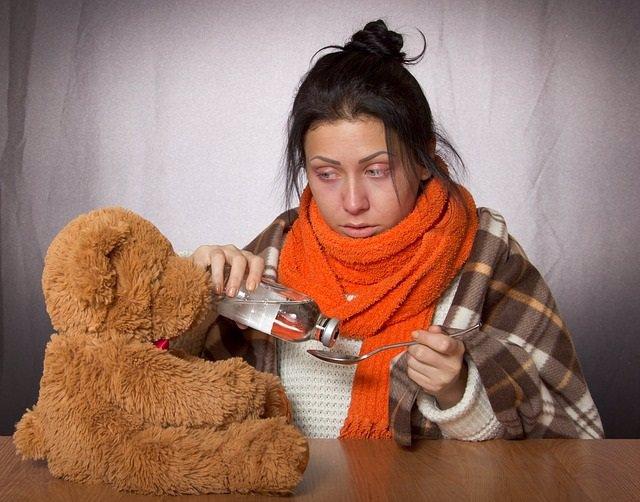 Gripe, garganta, resfriado, fiebre, jarabe, tos