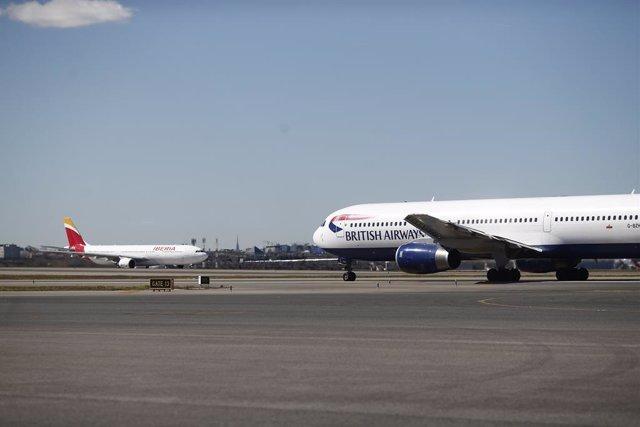 Iberia, British Airways, Aeropuerto de Barajas, avión, aviones