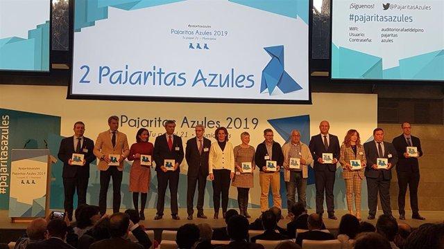 Teresa Ribera durante la entrega de 'Pajaritas Azules 2019'
