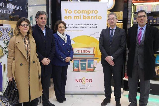 Carmen Castreño, en la presentación de las ayudas al comercio