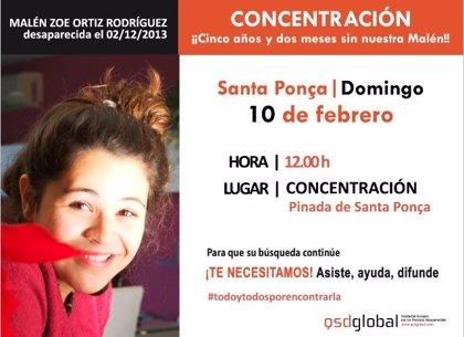 """La familia de Malén Ortiz convoca una concentración en Calvi este domingo para """"pedir avances en la investigación"""""""