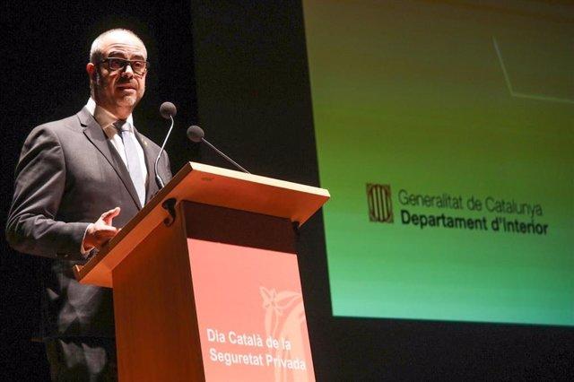 El conseller d'Interior, Miquel Buch, en el VI Dia Català de la Seguretat Priva
