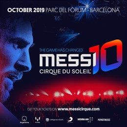 Cartell de l'espectacle 'Messi10 by Cirque du Soleil'
