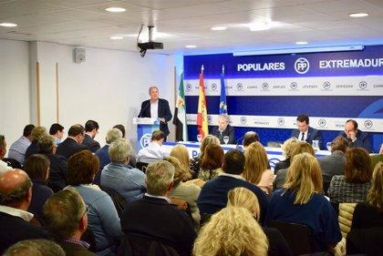 El PP de Extremadura aprueba la constitución del Comité de Campaña para las autonómicas, dirigido por Fernando Manzano