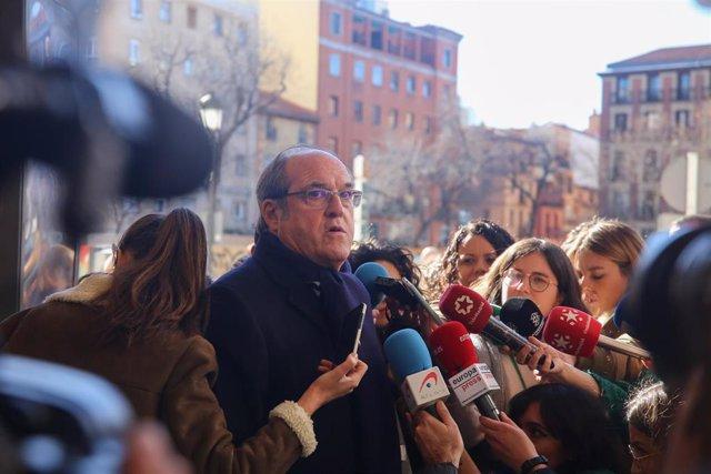 Acto en el que Pepu Hernández se presenta como posible candidato del PSOE al Ayu