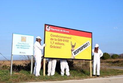 """La IAEDEN denuncia l'ampliació de la carretera GIV-6102 i diu que és una despesa """"innecessària"""" que afectarà els Aiguamolls"""